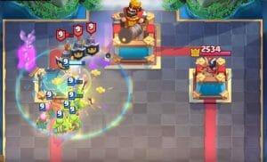 battle healer clash royale radius