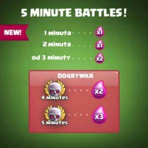nowe czasy meczów clash royale