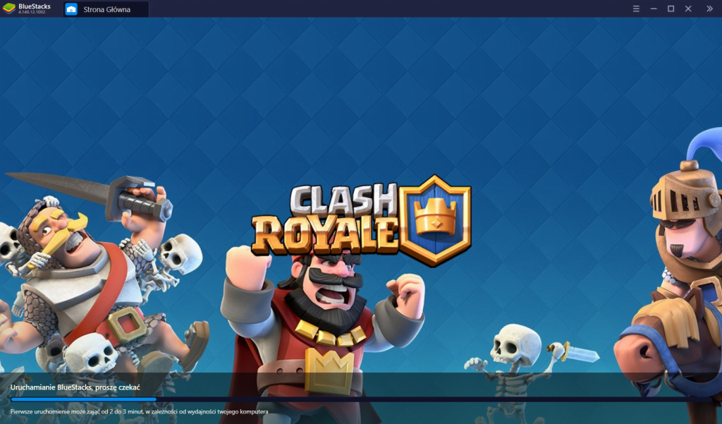 Clash Royale first run bluestacks