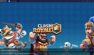 Clash Royale first run bluestacks